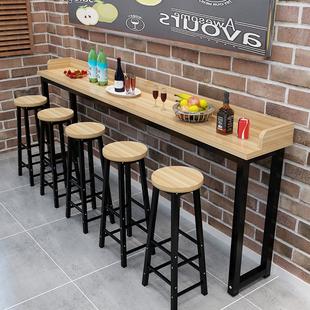 定做简约吧台桌餐桌高桌子吧台桌家用吧台桌咖啡桌厨房架奶茶桌子