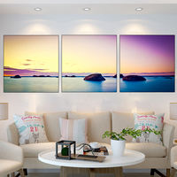Modern living room decoration painting triptych modern minimalist sofa background wall painting frameless painting mural scenery