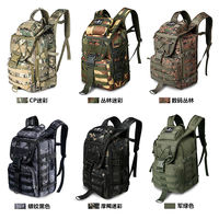 Battlefield outdoor mountaineering bag male multi-function waterproof tactical backpack attack package army fan rucksack camouflage backpack