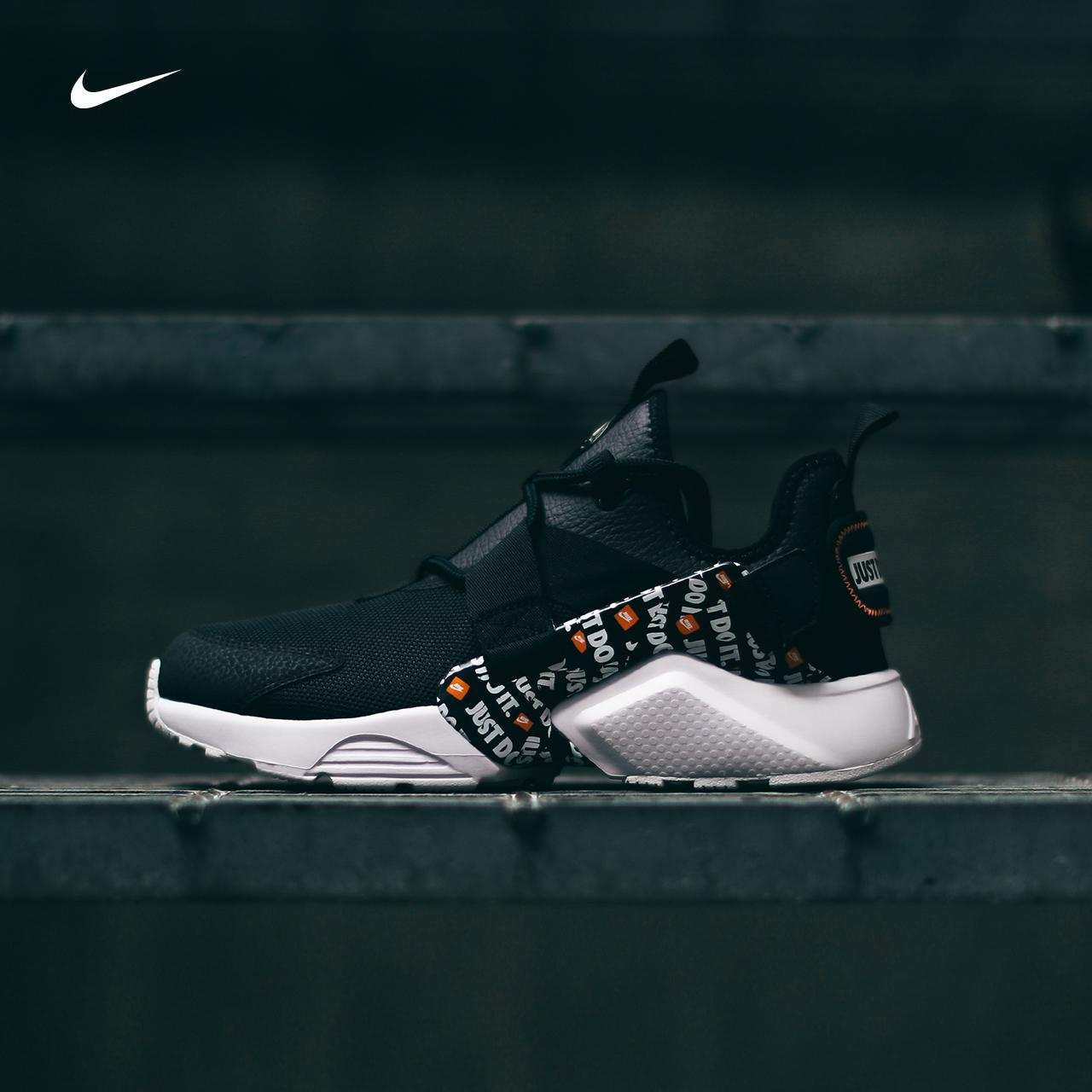 Nike/耐克女鞋AIR HUARACHE黑白潮流街头休闲运动鞋 AO3140-001