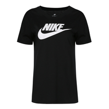 耐克女短袖 白黑粉色 棉质生活休闲圆领运动T恤文化衫846469-010