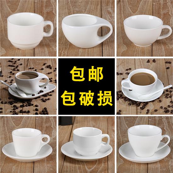 白色瓷咖啡杯