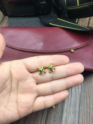 中秋节福利橘子实心纯铜镀金925银针骷髅耳钉女100元10对单对15元