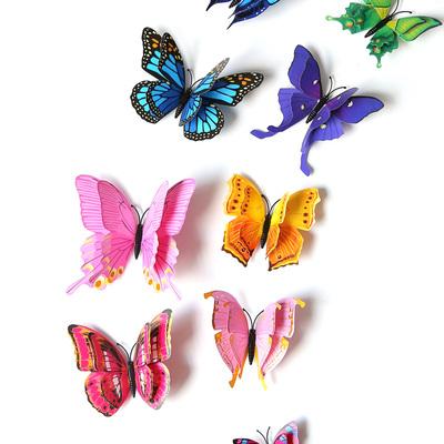 3D立体墙贴墙纸房间卧室墙上墙面装饰品教室布置仿真蝴蝶创意个性评价好不好