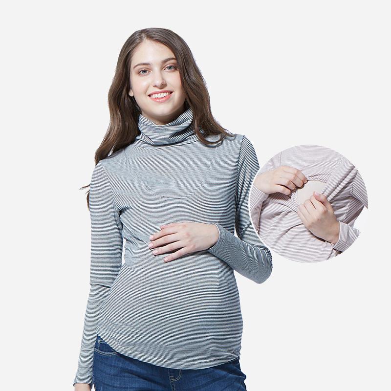 妈妈喂 潮妈春季外出时尚款孕妇装打底衫 秋冬保暖哺乳衣1620993元优惠券