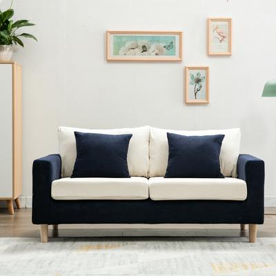 北欧简约布艺拆洗两座双人小沙发咖啡店铺公寓办公小户型三人沙发