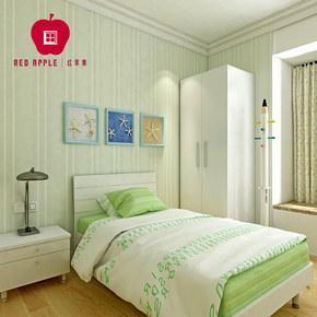 红苹果家具 经典现代青少年卧室套餐 3件套组合床+床头柜+衣柜 W4