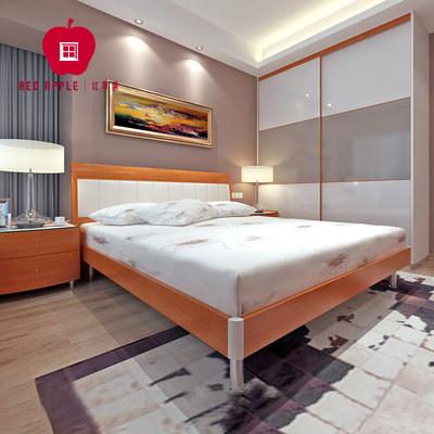 红苹果家具 现代简约排骨架双人板式高箱床R801/802/8302-17