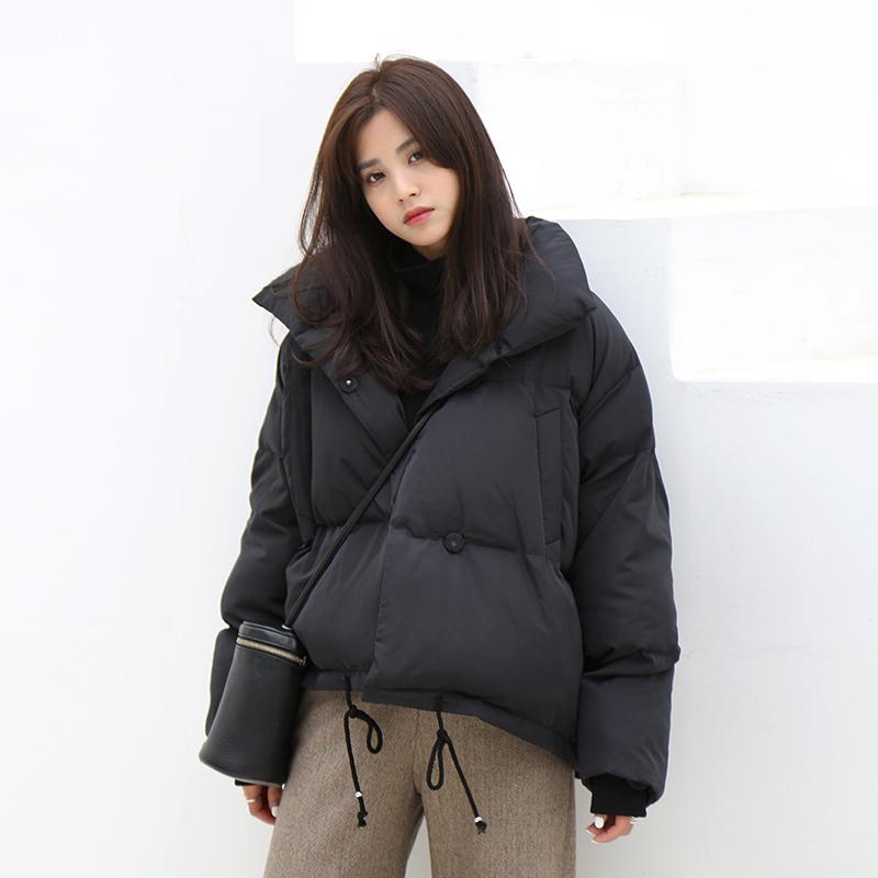 【可领券】夕蒙自制 短款A字 面包服茧型外套女冬季加厚棉衣宽松棉服棉袄