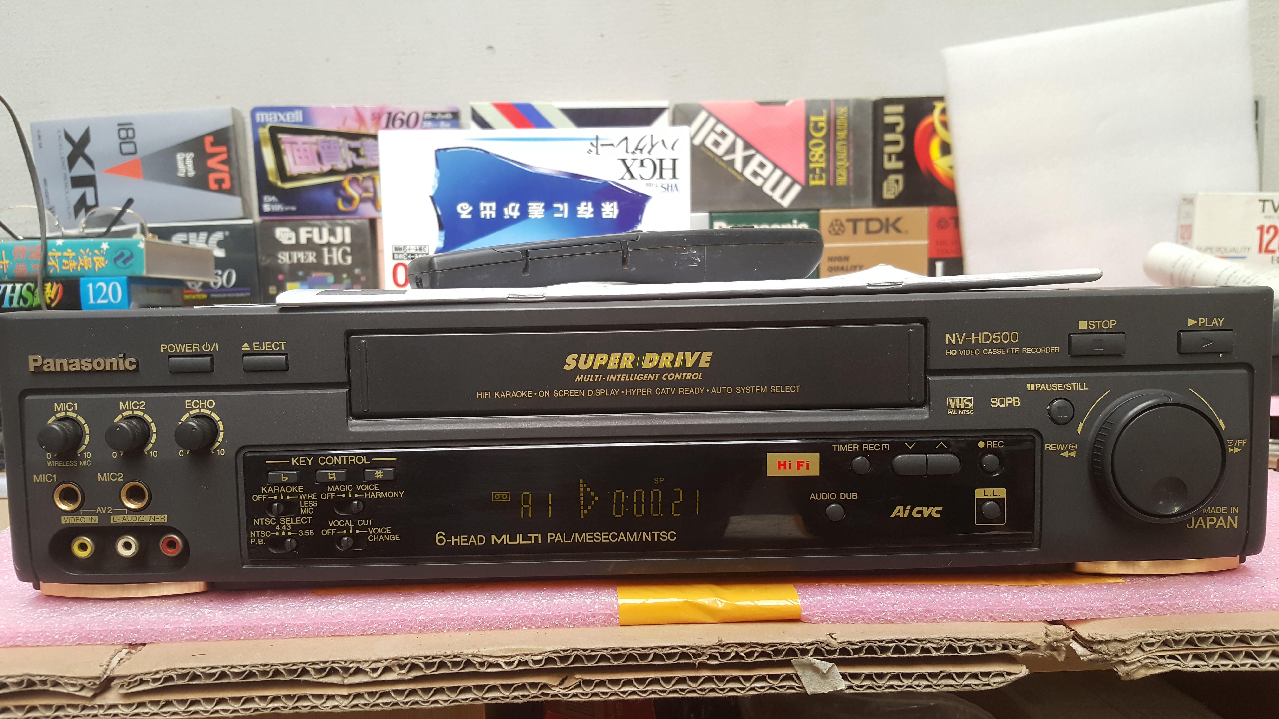 Panasonic/松下VHS磁带录像机NV-HD500MU老录像机9成新