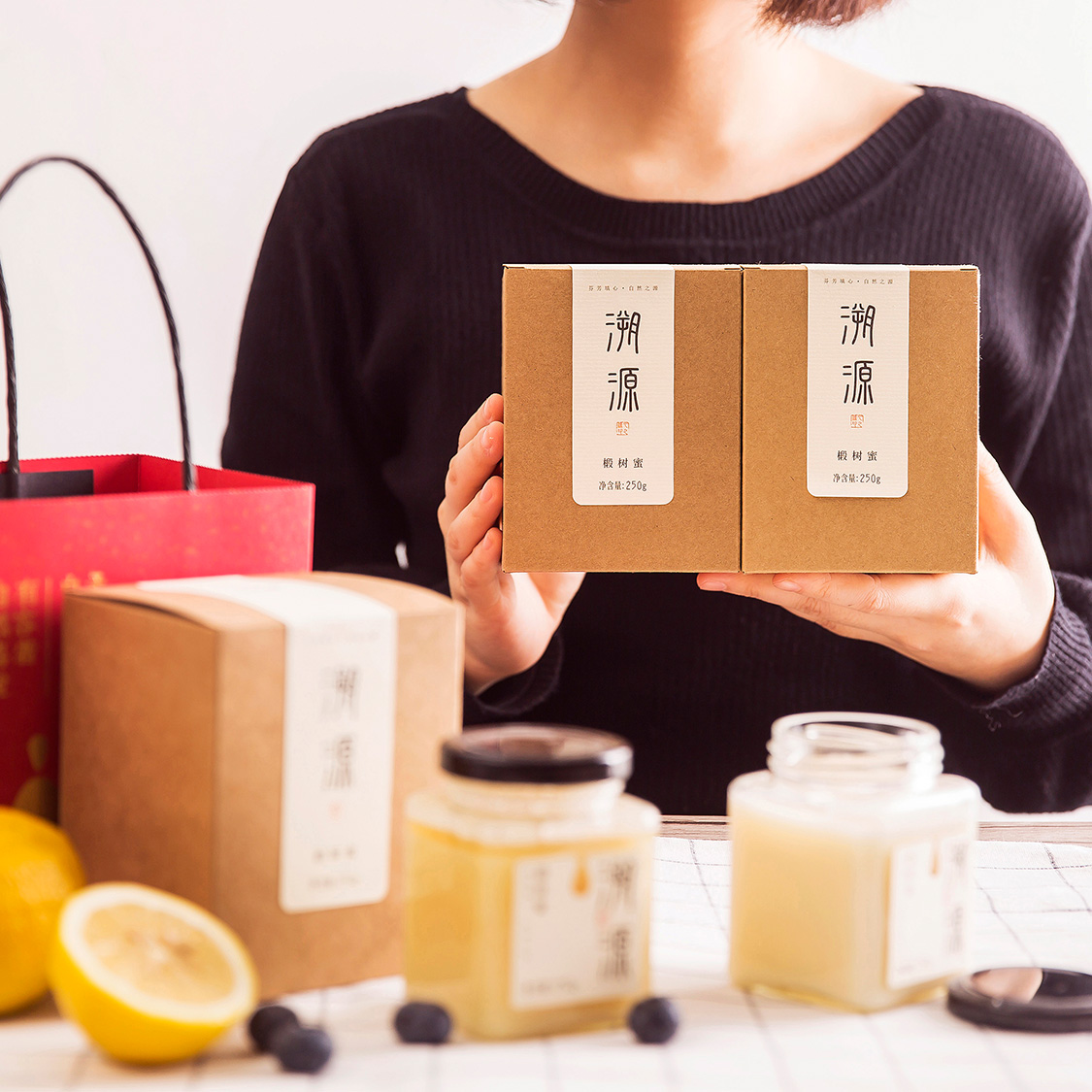 野生椴树蜂蜜纯净天然农家自产 成熟土白蜜雪蜜蜂巢蜜(送礼盒袋)