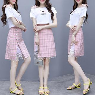 裙子女装2019新款夏装网红流行减龄两件套装高端洋气质显瘦裙子潮