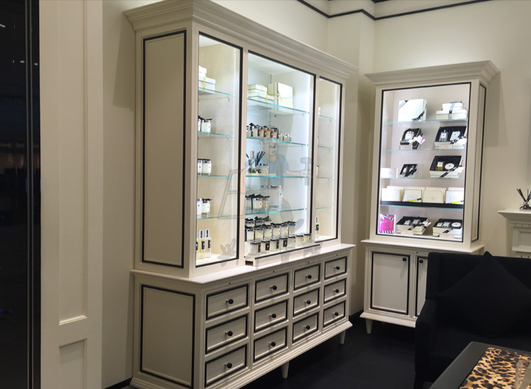 烤漆化妆品展示柜化妆品货架香水柜台指甲油展柜护肤品柜饰品柜台