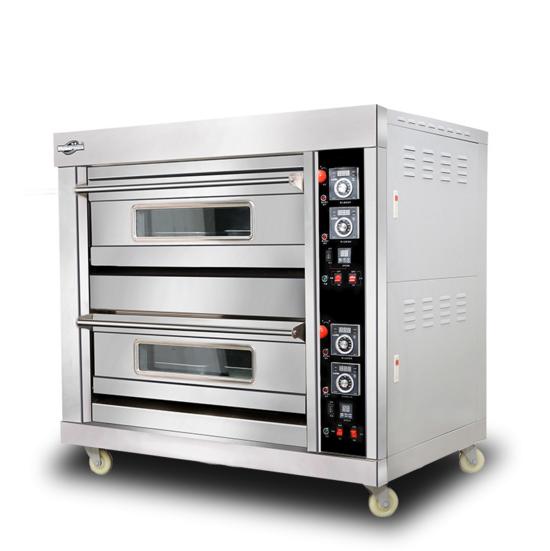 泓锋商用燃气烤箱二层四盘 面包月饼蛋糕 燃气双层披大型披萨烤箱