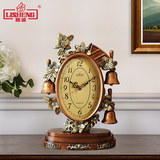 Lisheng european-style clock sitting room quiet clock bedside table clock decoration quartz clock retro creative display clock