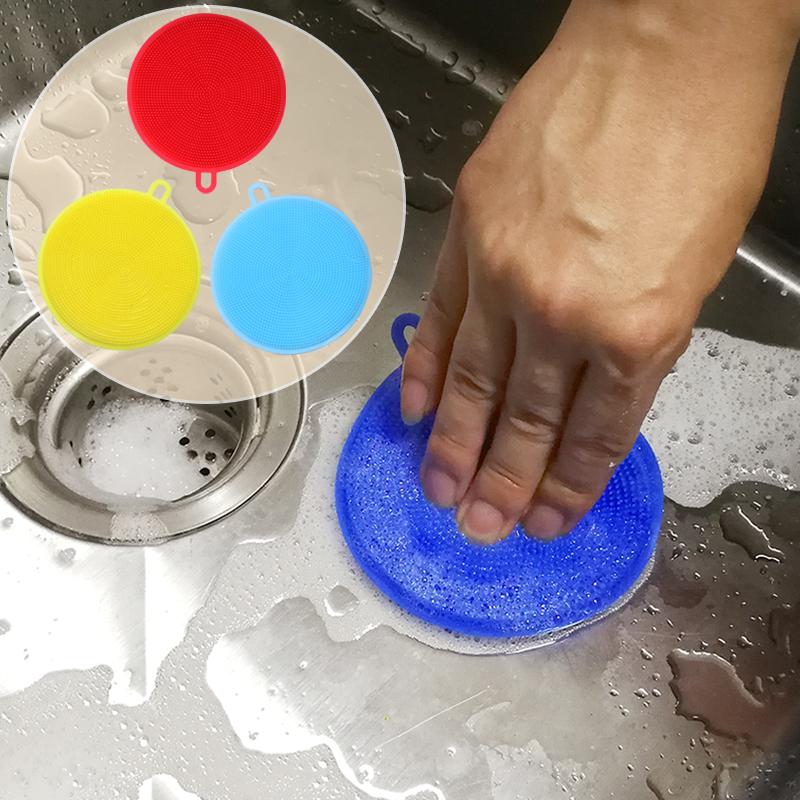 硅胶洗碗布多功能厨房去油刷碗抹布家用加厚锅百洁布神器家务清洁