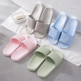 Japanese indoor home soft-soled slippers bathroom bath anti-slip couples wear cool slippers women's summer home shoes