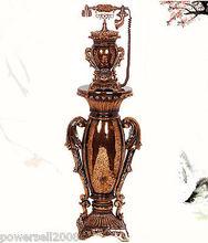 欧式复古电话机古董家用座机树脂铜落地式古董创意收藏 美国代购