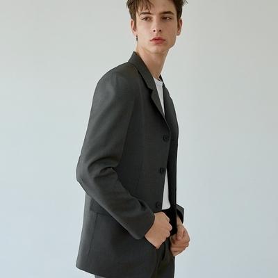韩国代购韩版时尚西服mutnam春装新款男隐藏纽扣设计西装