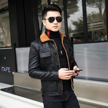 Leather jacket for men in autumn and winter
