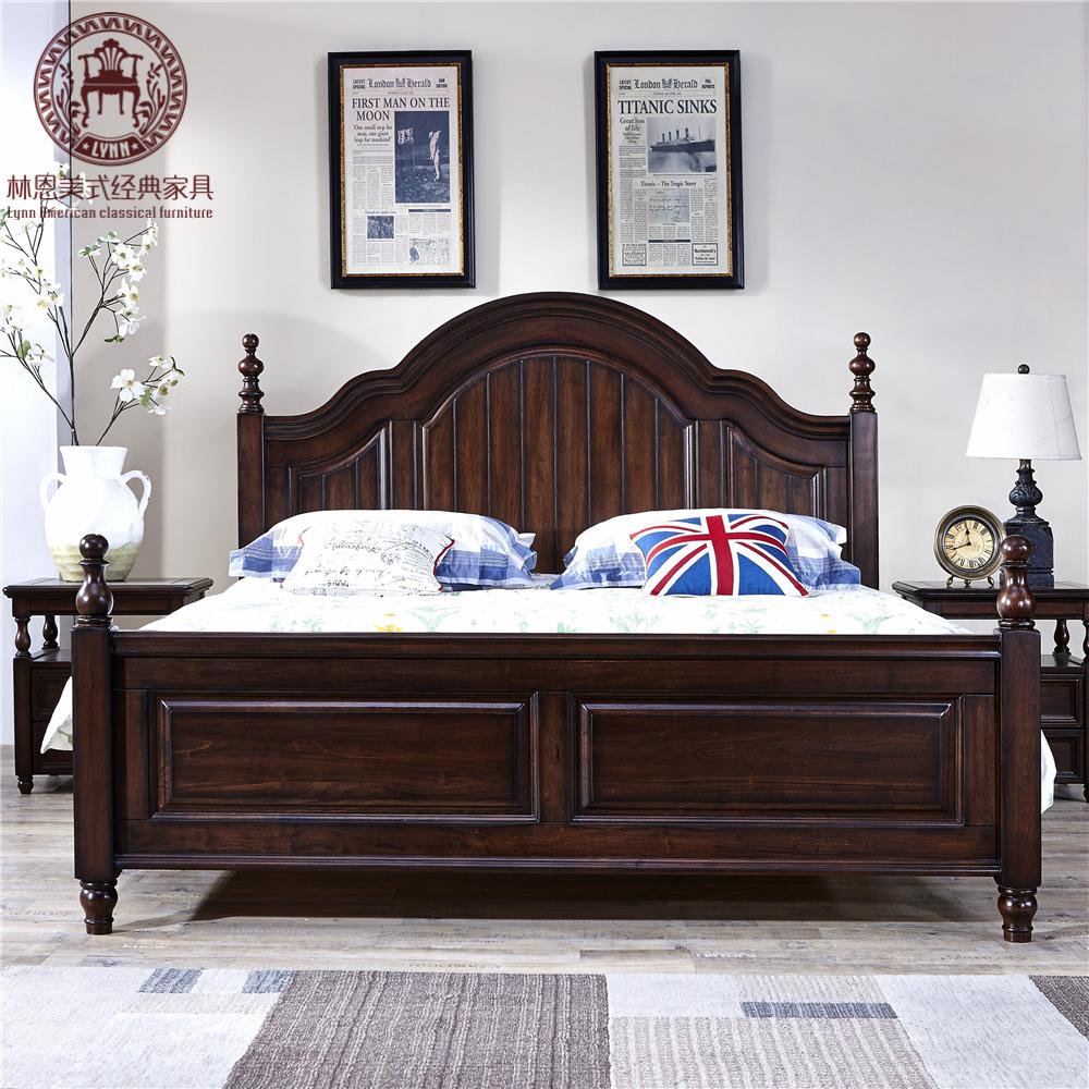 新古典床白色