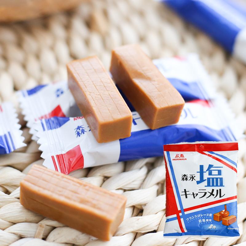 2袋包邮日本Morinaga森永奶糖法国岩盐特浓焦糖太妃牛奶糖92g喜糖