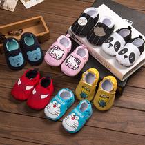 婴儿鞋软底防滑春秋步前鞋婴儿学步鞋不掉鞋全棉宝宝胶底鞋0-1岁