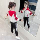Children's wear girls' suits 2019 new spring and autumn children's children's big children Korean sports and leisure three-piece tide