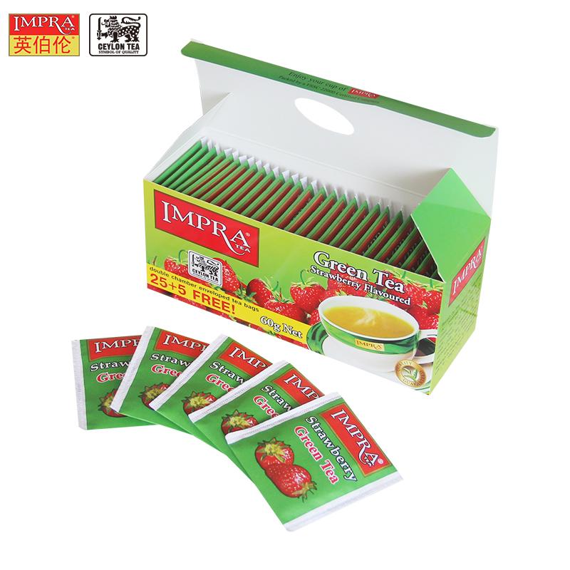 锡兰茶 斯里兰卡进口下午茶包 袋 30 草莓味绿茶 英伯伦 IMPRA
