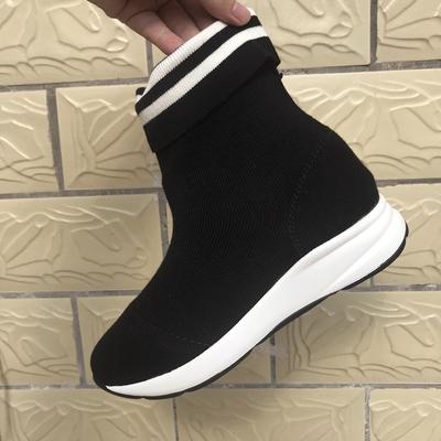 袜子靴女韩版百搭高帮鞋2018秋新款运动弹力女鞋原宿嘻哈潮鞋大码