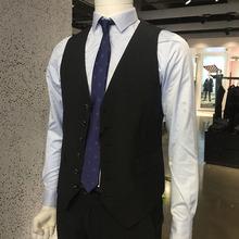 时尚 商务黑色不易皱 原980 西服马甲 正品 男士 16款 威可多男装