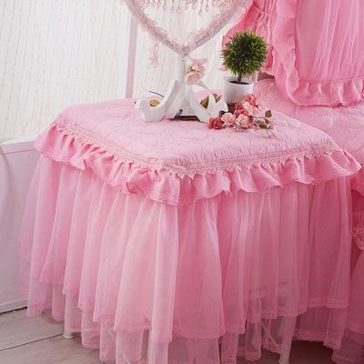 夹棉加厚蕾丝床头柜罩套防尘罩 婚庆盖布盖巾小台布布艺双十二