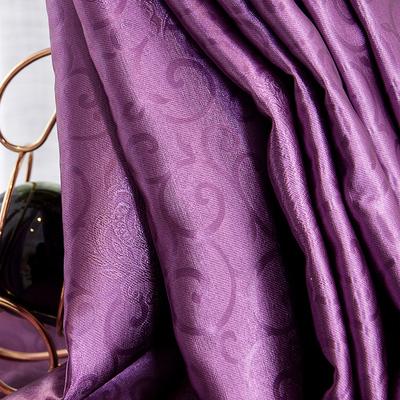 纯色现代简约避光窗帘客厅卧室落地飘窗隔热防晒全遮光布特价紫色有实体店吗