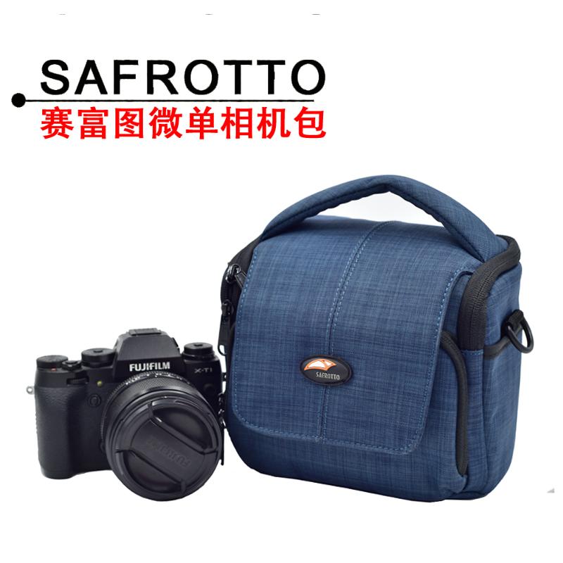 富士XT10单肩斜跨微单相机包小巧防水非内胆女款索尼A6300/A7原装