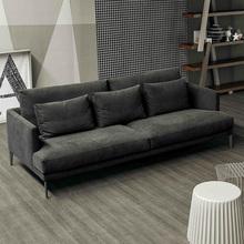 简约北欧乳胶布艺沙发小户型客厅整装双人三人四人直排一字型现代