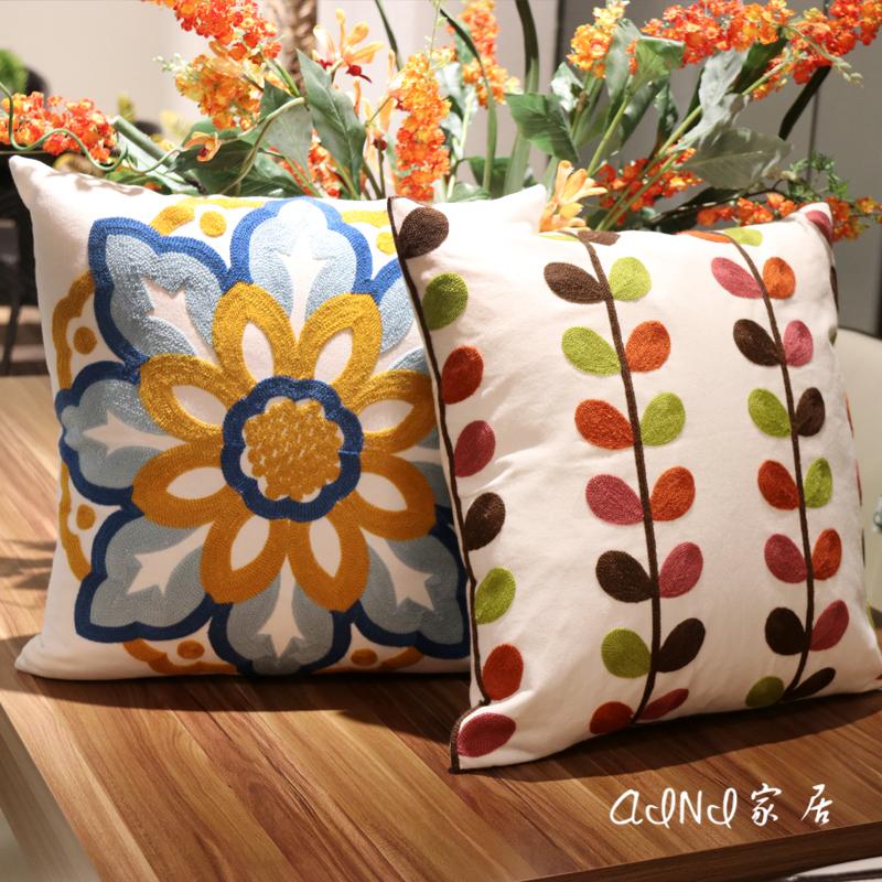 沙发靠垫刺绣