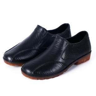 春秋雨鞋男厨房水鞋厨师工作鞋市场防滑鞋防水鞋套脚男鞋仿皮胶鞋