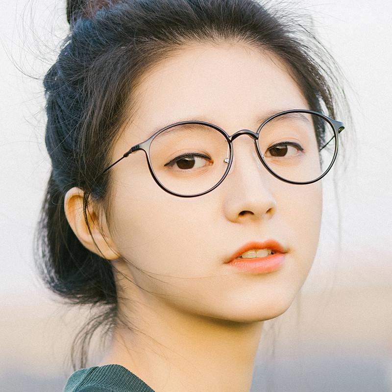 塑钢近视眼镜架潮细框眼镜