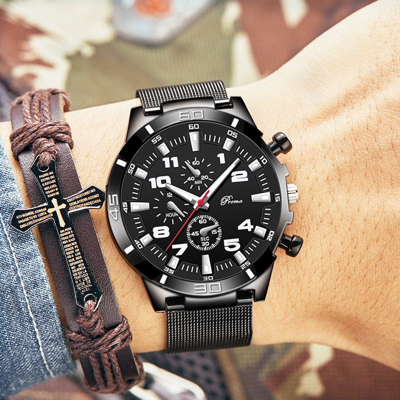 钢带简约手表