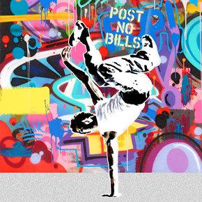 波普前卫嘻哈风格街头涂鸦朋克装饰画客厅沙发背景墙设计公司挂画