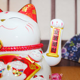 Shop opening gift birthday business creative rich cat ceramic ornaments beckoning money automatic hand-shaking opening cat