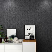 素色黑色墙纸欧式黑皮纹复古怀旧个性创意灰色仿古工业风LOFT壁纸