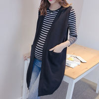 Pregnant women vest jacket cardigan spring and autumn new maternity dress pregnant women sweater shirts long female vests