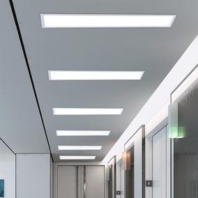 嵌入式LED长条办公灯长方形暗装吸顶灯会议室走廊过道平板吊顶灯