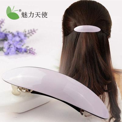 魅力天使弹簧夹发夹韩国发饰顶夹女士发卡韩版头饰马尾夹横夹饰品
