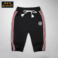 Dr. Cow Children's Wear Boys Pants Summer Cropped Pants Children's Casual 7 Pants Mid-Sports Elastic Sports Shorts