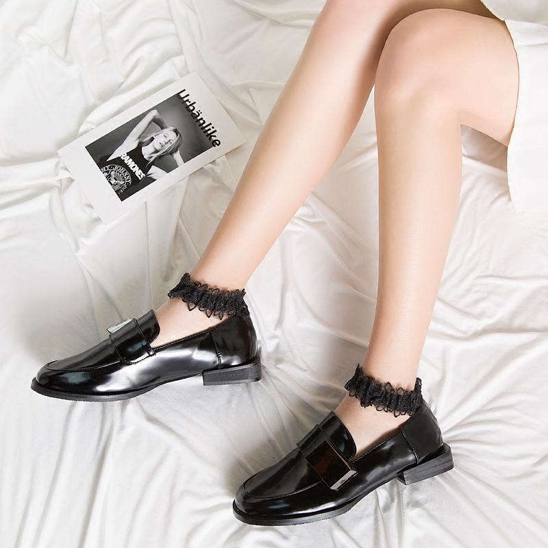 玻璃丝袜短袜子女蕾丝花边日系水晶袜夏天薄款女棉底拼接浅口船袜