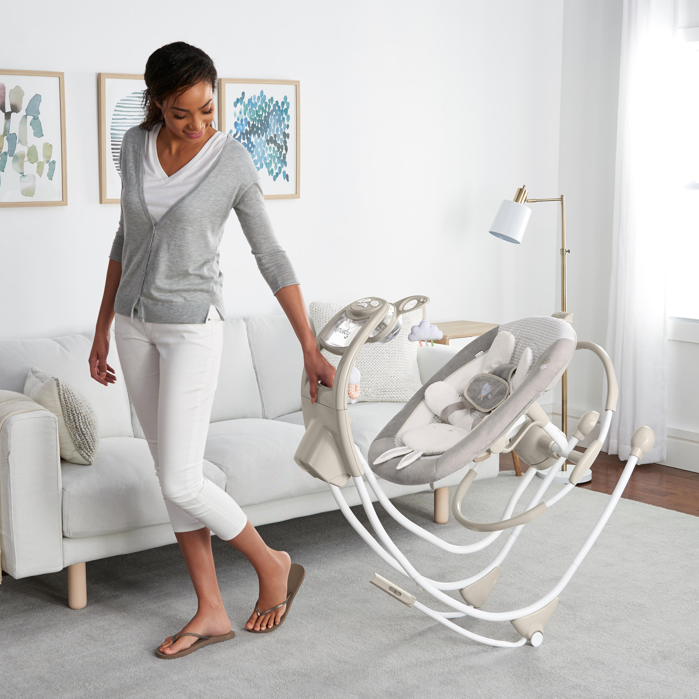 美国ingenuity电动婴儿秋千安抚摇椅 宝宝哄睡哄娃神器躺椅摇篮床