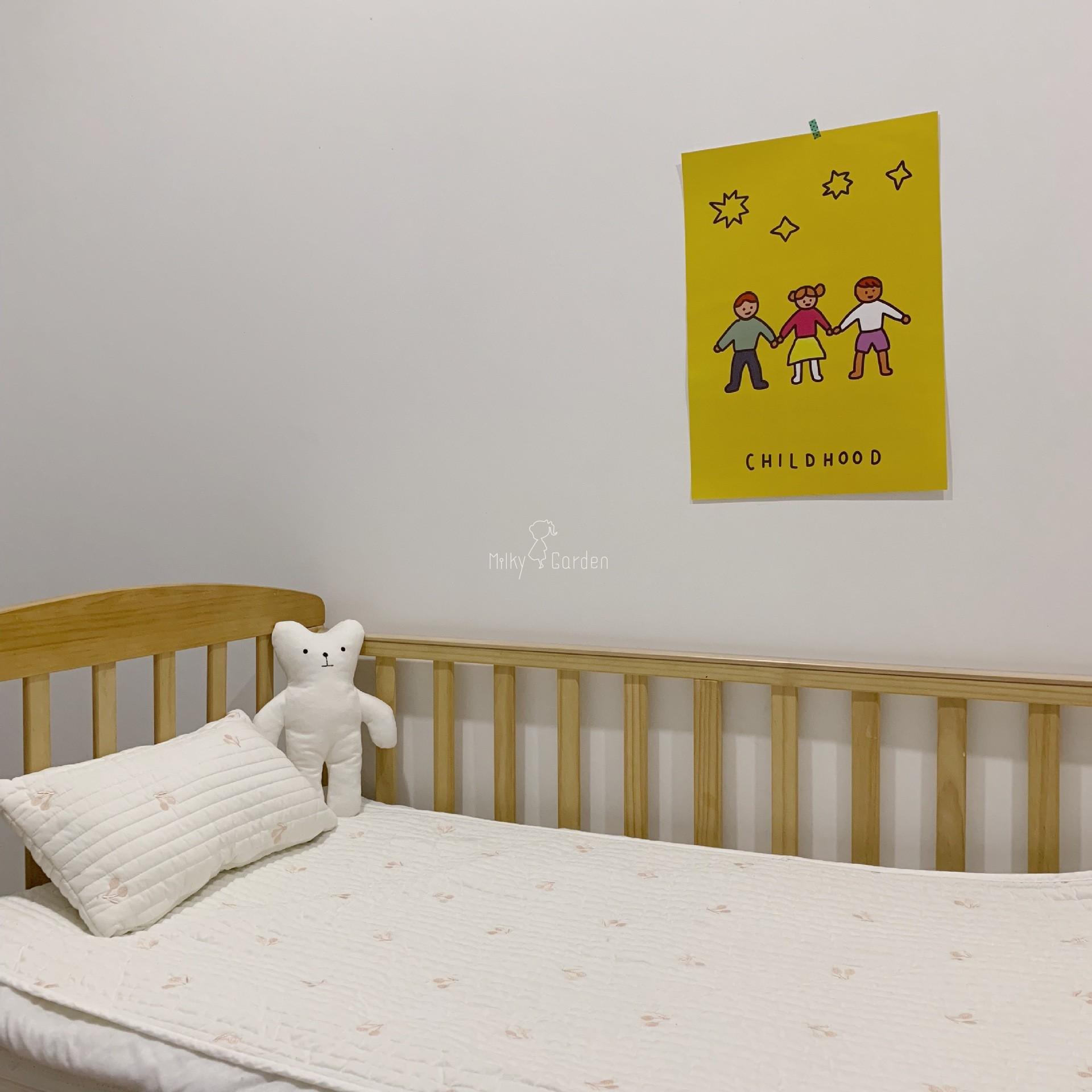 milky garden 新ins韩国宝宝床单 纯棉柔软刺绣床垫床褥儿童床单