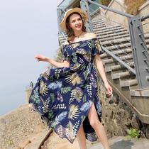 大码女装仙女裙胖mm2018夏装新款200斤胖妹妹欧美大码藏肉连衣裙